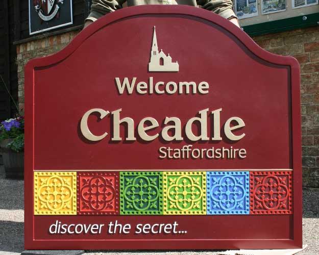 Cheadle Boundary Sign