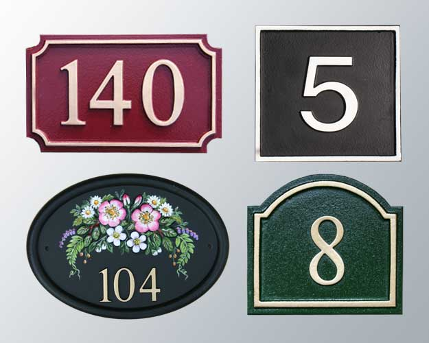 Ornamental House Numbers 100 Images Large Metal House