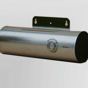 stainless steel newspaper holder