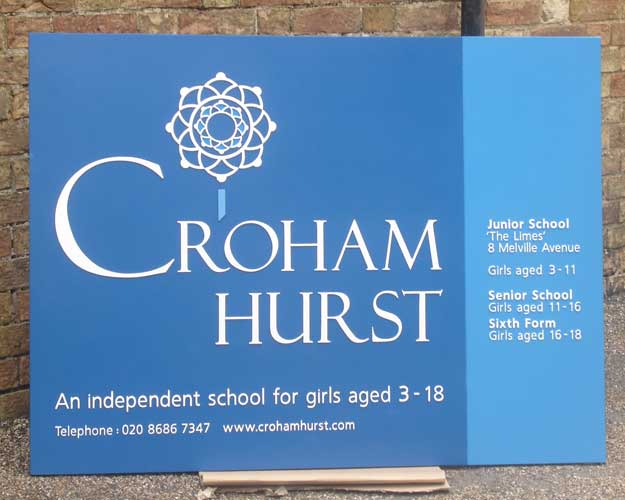 Croham Hurst School Sign