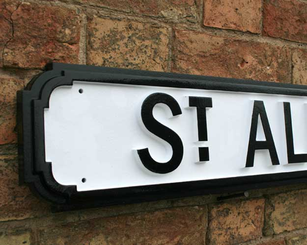 UK Street Sign - St Albans